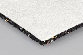 Bautenschutzmatte kaschiert mit weißem Vlies