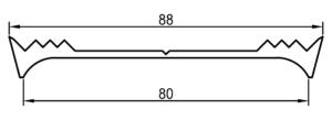 Auflagedichtung mit Maßen, 80 mm