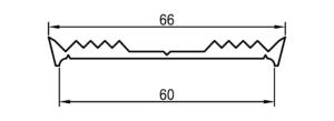 Auflagedichtung mit Maßen, 60 mm
